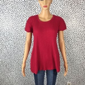 Anthro || Bordeaux red NWT blouse size medium